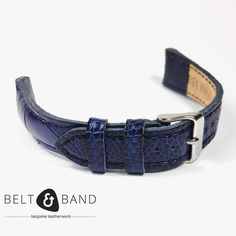 My favorite colour - Navy Blue on Ostrich Shin. My Favorite Color, My Favorite Things, Leather Working, Bespoke, Navy Blue, Belt, Colour, Watches, Instagram Posts