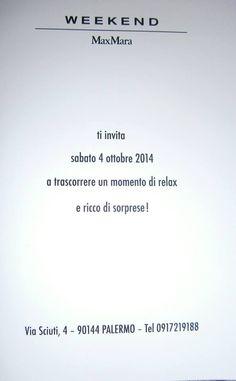 Vi aspettiamo nel pomeriggio dalle 16.30 alle 20.00 Autumn a Palermo