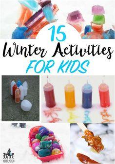 winter activities for kids, fun backyard winter activities, winter games and games to play in the snow!