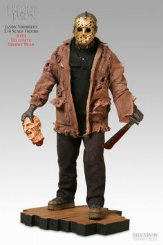 Sideshow Collectibles - New Line Horror - Premium Format Figure - Statue HQ… Jason Voorhees, Freddy Krueger, Scary Movies, Horror Movies, Horror Action Figures, Friday The 13th, Sideshow Collectibles, Stuff And Thangs, Halloween Horror