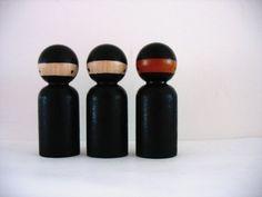 ninja kokeshi dolls