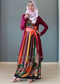 http://abayatrade.com Dress + Long Cardigan. #Hijab Style