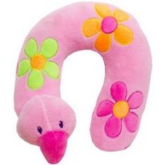 Keep baby comfortable with this Sunshine Baby neck pillow. Soft pillow features flower embroidered designs and plush flamingo head buddy. Nursing Pillow Cover, Pillow Covers, Downy, Neck Pillow, Soft Pillows, Pink Flamingos, Embroidered Flowers, Baby Gifts, Little Girls