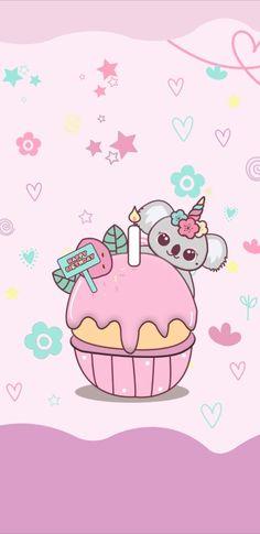 Iphone Wallpaper Japan, Kawaii Wallpaper, Phone Wallpapers, Wallpaper Fofos, Happy Birthday Wallpaper, My Melody, Chibi, Hello Kitty, Doodles