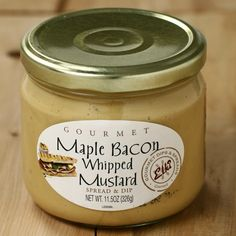 maple bacon whipped mustard