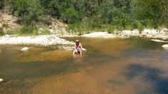 My good mate Brett cooling off at Angies G Spot. That river is just what the doctor ordered!