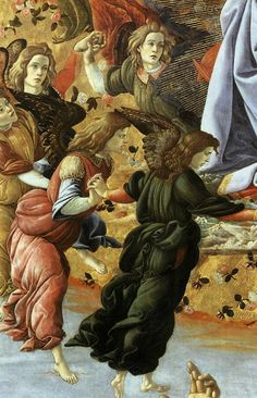 Angels, Coronation of the Virgin [detail], Sandro Botticelli