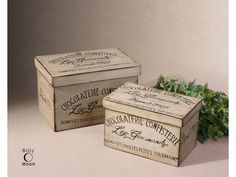 Uttermost Company Accessories Chocolaterie, Boxes, S/2 19300
