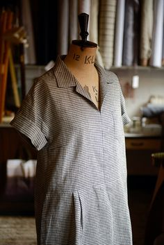 Factory Dress Pattern from Merchant & Mills, Draper. Has an early 20th-century look.