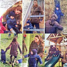The Duchess of Cambridge & PrinceGeorge visiting Snettisham Park, a working farm in Norfolk, last week.