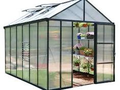 Indulge in your love for gardening year-round with the Palram Glory Greenhouse. This professional-grade greenhouse can be heated and/or cooled for year-round usage, and the tall peak allows you to overwinter small trees. Outdoor Greenhouse, Cheap Greenhouse, Greenhouse Effect, Greenhouse Interiors, Backyard Greenhouse, Greenhouse Plans, Greenhouse Wedding, Homemade Greenhouse, Portable Greenhouse