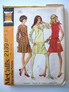 Vintage Sewing Pattern Ladies 60's Partially by Freshandswanky, $4.00