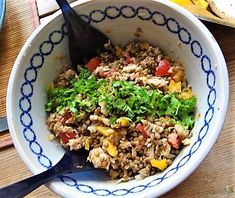 Linsensalat, Ofengemüse Zucchini, Kraut, Fried Rice, Fries, Ethnic Recipes, Food, Parsley, Eggplants, Red Peppers