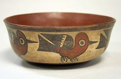 Bowl with Birds Date: 4th century Geography: Peru Culture: Nasca Medium: Ceramic