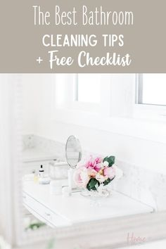 Keeping your bathroom clean is important that's why you'll love these bathroom cleaning tips. These cleaning tips for bathroom will be just what you need to keep your bathroom clean and clutter-free. Also, download the free bathroom cleaning checklist printable to use during your weekly bathroom cleaning