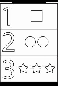 Numbers and Shapes – 4 Worksheets / FREE Printable Worksheets – Worksheetfun Color Worksheets For Preschool, Shape Tracing Worksheets, Numbers Preschool, Free Printable Worksheets, Preschool Printables, Kindergarten Worksheets, Number Worksheets, Preschool Learning Activities, Free Preschool