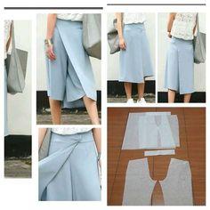Cullote skirt pants pattern.