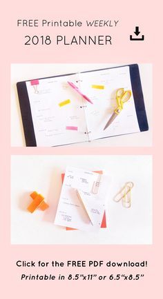 Print your own clean, minimalist 2018 weekly planner, with equally large spaces for all days of the week & plenty of space for notes! • Minimalist 2018 Planner • 2018 Weekly Planner • Free 2018 Printable Planner Download • Free Planner for Entrepreneurs