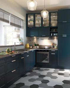 Idée relooking cuisine Sol cuisine : carrelage parquet et revêtement déco
