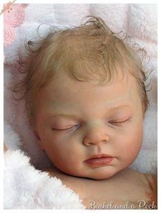 Beautiful Reborn Baby Girl Doll Indra, Full Soft Vinyl, Reva Schick