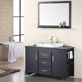 "Found it at Wayfair - Washington 48"" Single Bathroom Vanity Set with Mirror   *** I really like this one."