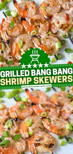 Have you heard of Bang Bang Shrimp before? Then you have to try this healthy recipe without the breadcrumbs! With the same spicy, creamy, sweet chili sauce covering every square inch, these grilled shrimp skewers are amazing. Plus, they are super easy to serve! Dinner Recipes Easy Quick, Delicious Dinner Recipes, Quick Easy Meals, Healthy Recipes, Healthy Meals, Seafood Dishes, Seafood Recipes, Grilled Shrimp Skewers, Bang Bang Shrimp