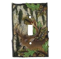 Deer Single Light Switch Cover - Deer Decor