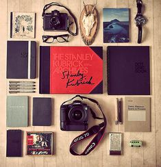 Still life photography with things you can't live without. What a great idea!