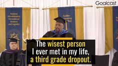 Rick Rigsby delivers the best commencement speech and explains how the wisdom of a 3rd grade dropout was what sustained him after the devastating lost of his wife.
