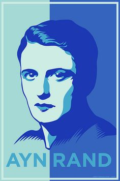 Ayn Rand - whose philosophy was capitalism uber alles.  Individualism trumps the public good every time.  One person's right to make a buck always beats out the common interest.  To follow her logic, there would be no public parks, no social security, no public transit; only a two class system of haves and have nots.  Totally messed up.
