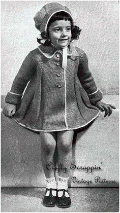 Vintage Girls Coat And Bonnet Pattern