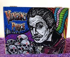 Custom Hand Painted Cigar Box Art – Vincent Price Art – Horror Movie - Cigar Box – Box - Smoking Decor – Cigar Box Art - Stash Box by TimothyDaviesArt on Etsy