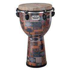 """Remo Remo Apex Djembe, 12"""" x 22"""", Designer Series, Orange Kinte (Remo 205033), Djembe African Drums by Remo & Toca   West Music"""