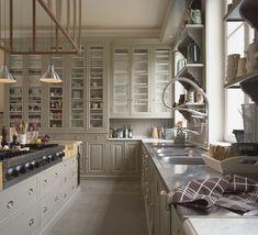 gray cabinets... i like