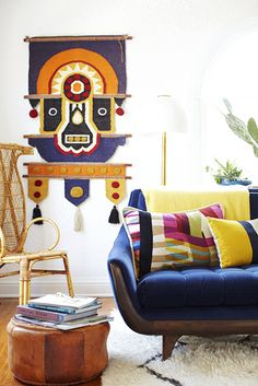 The textures + colors + elegant lines are to die for. Mexican modernism by Emily Henderson.