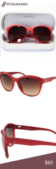 Calvin Klein sunglasses new in case women Beautiful chic and stylish ck calvin klein new sunglasses in case.. never used Calvin Klein Accessories Sunglasses