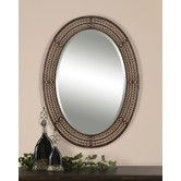 entry Found it at Wayfair - Matney Oval Mirror