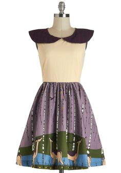 Wood-n't It Be Lovely Dress, @ModCloth color transfer around collar. (Color transfer has been removed!)