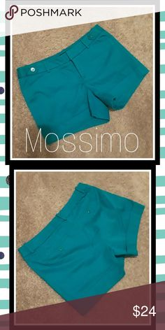 3cf3c71f3 ... loops / snap closure/ front and back pockets/ cuffed hem / button  details on waistband / cotton / spandex/ Waist: across, Length: Mossimo  Supply Co.