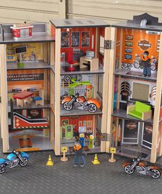 Take a look at this Harley Davidson Garage Play Set on zulily today!