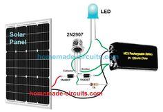 Solar Panel Lights, Small Solar Panels, Solar Pathway Lights, Solar Powered Garden Lights, Circuit Design, Solar Charger, Circuit Projects, Diy Solar, Circuit