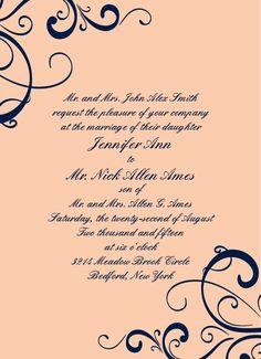 The Simple Swirls Wedding Invitation