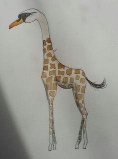 Giraffe swan
