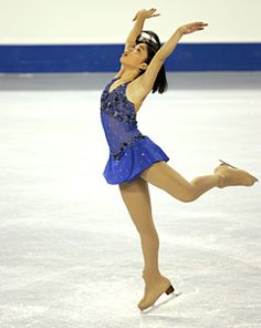Beatrice Liang - Blue Figure Skating / Ice Skating dress inspiration for Sk8 Gr8 Designs.
