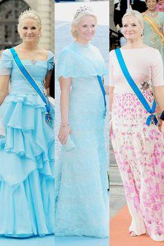 anythingandeverythingroyals:  Swedish Royal Wedding Guests 2010, 2013, and 2015-Crown Princess Mette-Marit