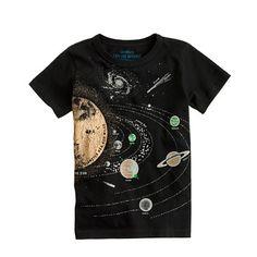 Boys' glow-in-the-dark solar system tee - graphics - Boys' tees & polos - J.Crew