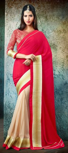 147961: Silk Saree DualTone Partywear