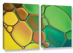 Stained Glass III by Cora Niele 2 Piece Graphic Art on Wrapped Canvas Set