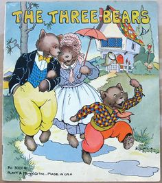 """The Three Bears"", illustrated by Eulalie - 1934, via Etsy."