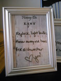 Magnetic 'HoneyDo' list dry erase picture by HomeAtHeartCrafts, $9.00